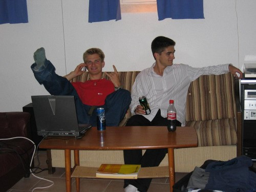 Alexei et Christopher dans notre sous-sol