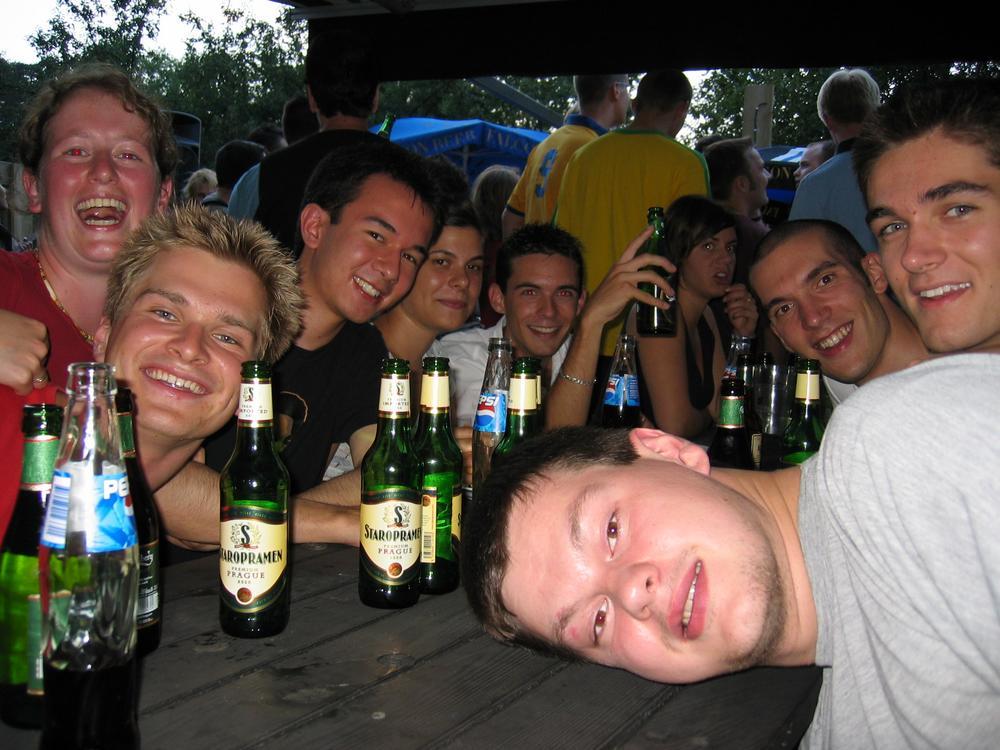 L'équipe au Flamman Pub