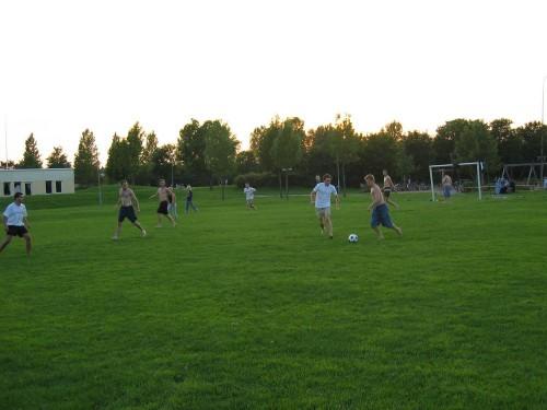 Partie de foot internationale