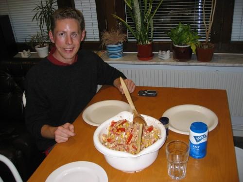 L'énorme salade de thon