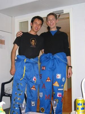 Sam et moi en overalls
