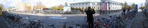 Panorama de vélos à l'uni