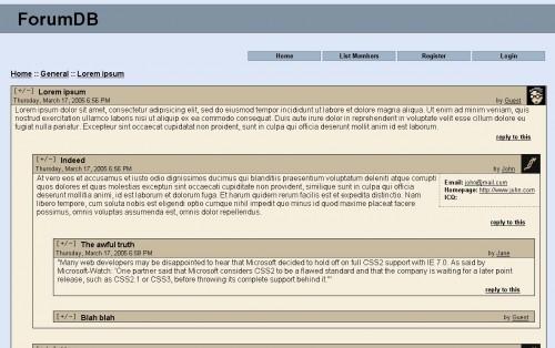 Projet de forum web