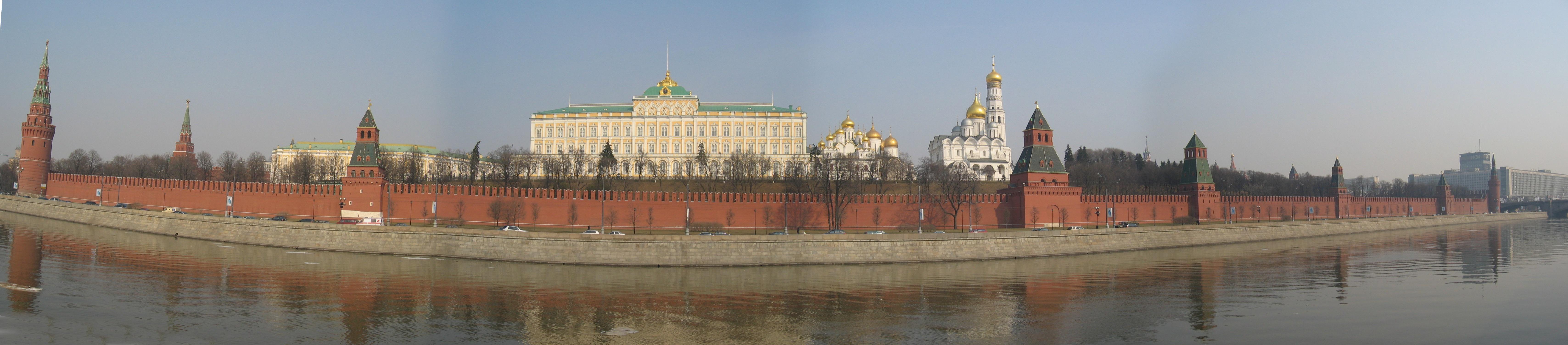 Panorama du Kremlin, depuis l'autre rive