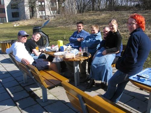 First outdoor brunch