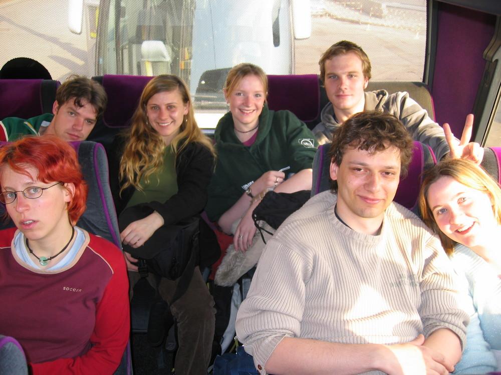 L'équipe de l'arrière du bus A