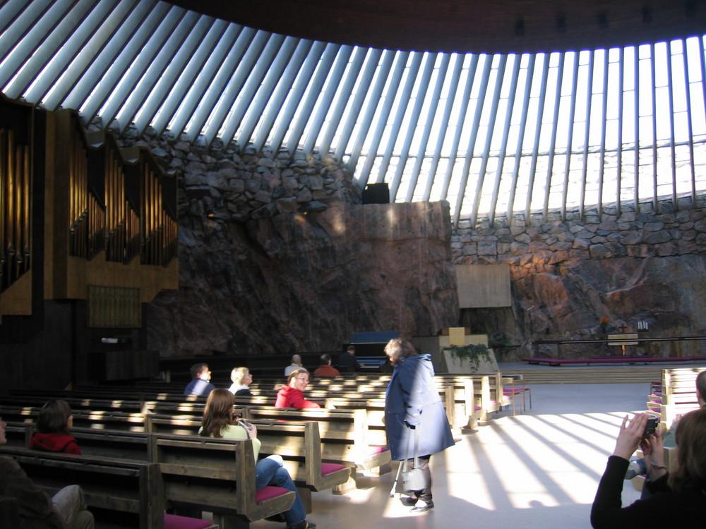 Église Temppeliaukion, creusée dans le roc