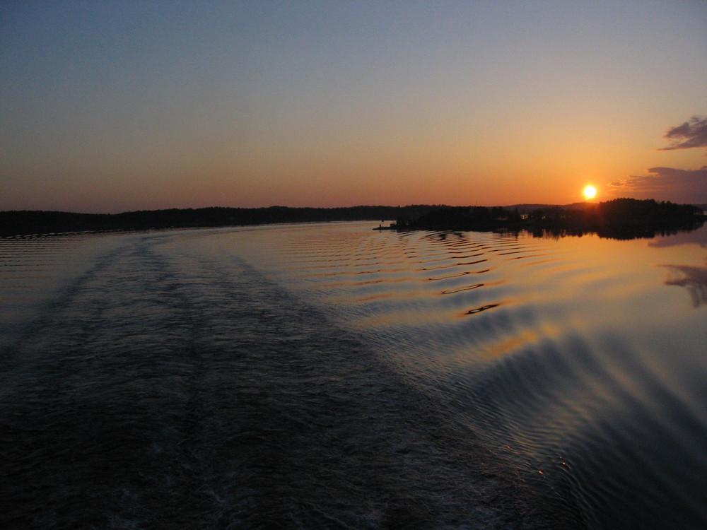 Superbe lever de soleil depuis le pont