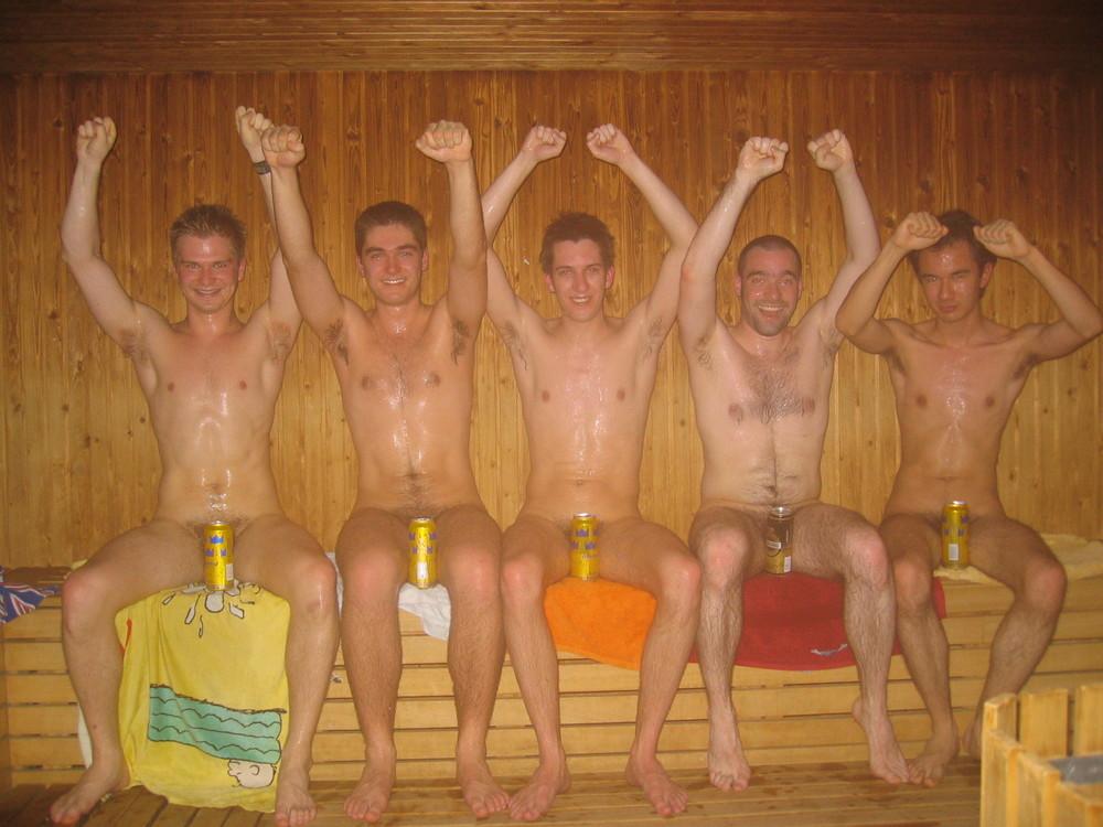Les 5 suisses en échange, dans le sauna