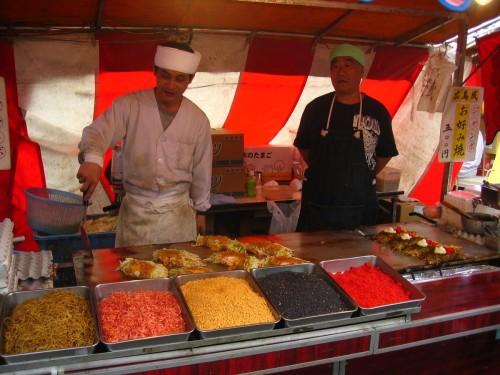 Okonomiyakis stand