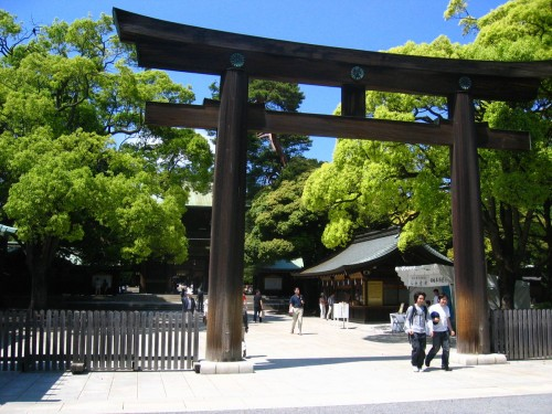 Entrance of Meiji Jingu Shrine