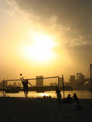 Sunset Tokyo Beach