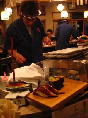 Sushi d'anguille et d'oursin