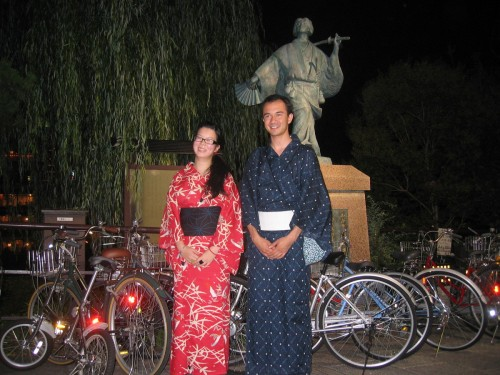Khue and me, in yukata