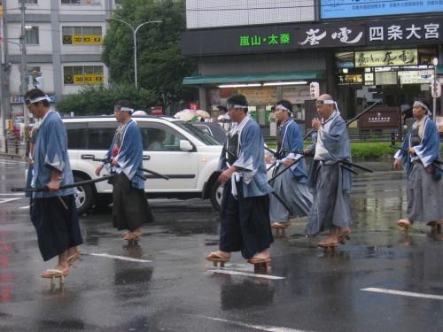 Parade traditionelle en pleine rue