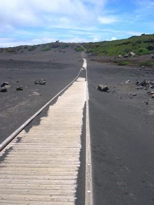 Plaine de sable noir