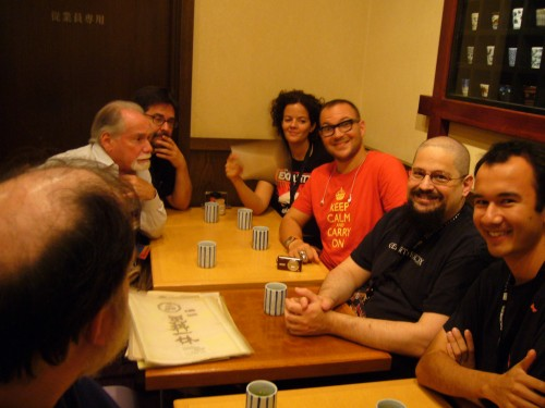 Soba lunch with Robert Silverberg, Patrick Nielsen Hayden, Alice & Cory Doctorow, Charles Stross