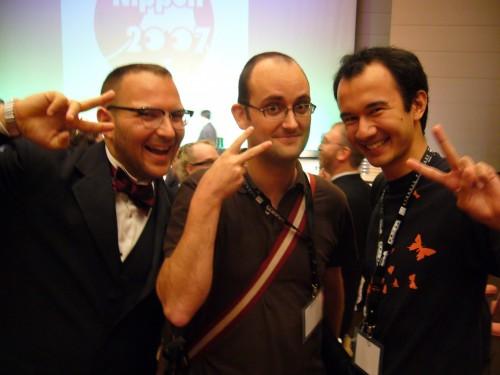 Cory, Sacha & I, after the Hugos