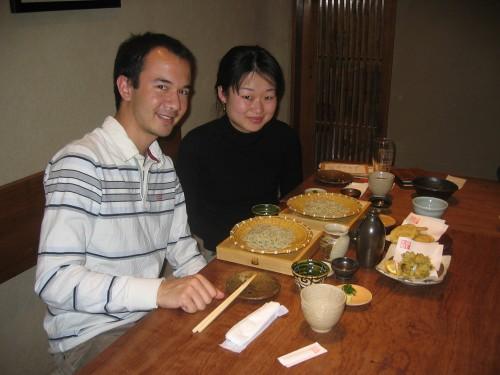 Soba et tempura avec Yoko